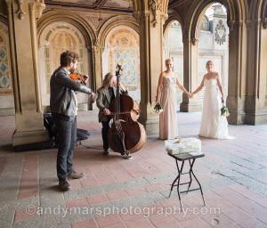 same-sex wedding central park bethesda terrace