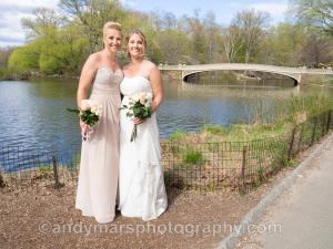 brides central park bow bridge