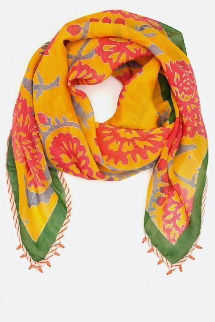 Anupama Dayal. Golden yellow hand printed chiffon. RS 3900
