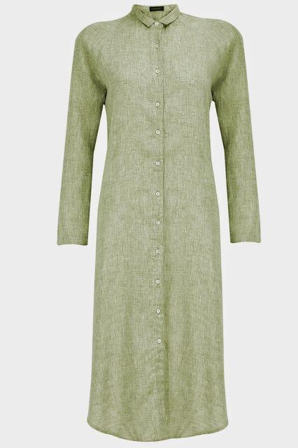 VARUN BAHL Pastel green asymmetrical shirt dress Rs. 5,100