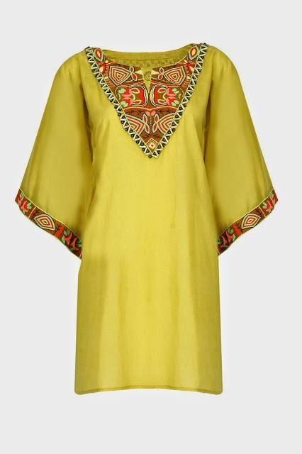 PIA PAURO. Mustard embroidered tunic. Rs 7,000jpg