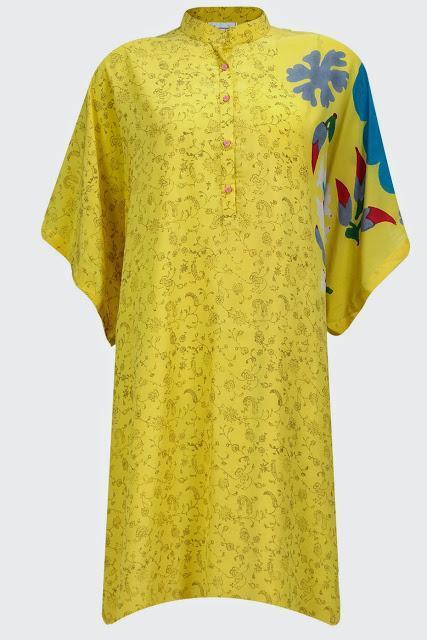 Shopping, Style and Us : ANUPAMAA DAYAL. Yellow flower motifs oversize tunic