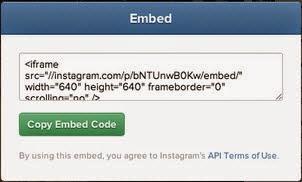 Format Your Instagram Embed - Copy Code