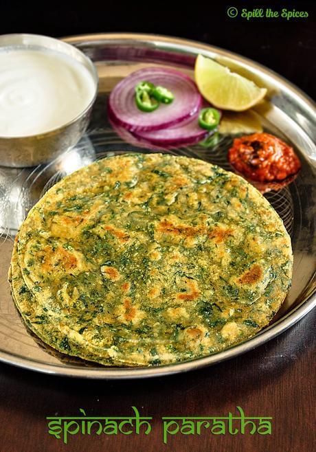Palak Paratha | Spinach Paratha