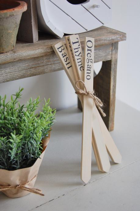 Herb Markers, Handmade home, Sweet Mabel Handmade, Rustic Herb markers, Garden, Plant accessories