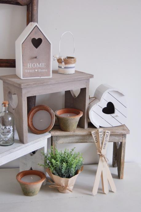 Rustic, Garden, Shabby Chic, home accessories, Plant pots, birdhouse,