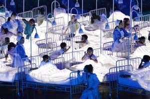 Children used as NHS propaganda during the 2012 London Olympics Ceremony