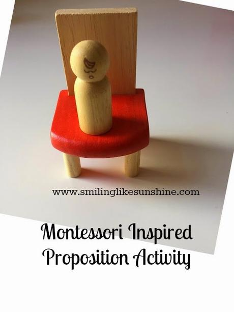 Montessori Inspired Proposition Activity