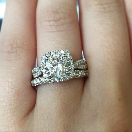 Halo Engagement Ring by Verragio