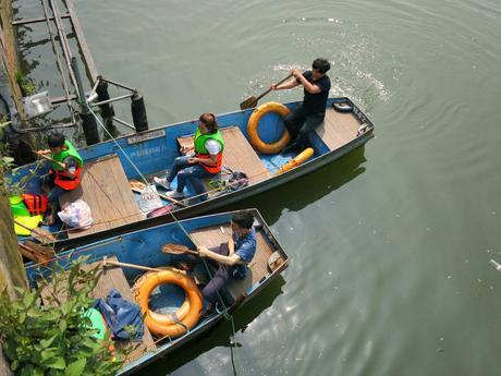 Visiting China   Boating on West Lake