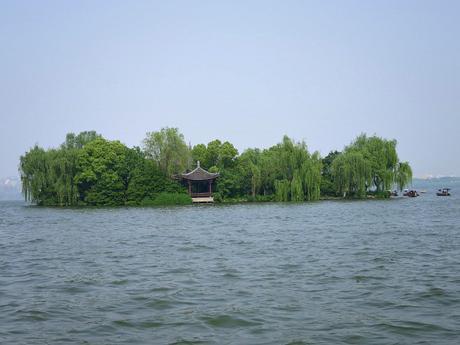 Islands on Hangzhou's Lake in China