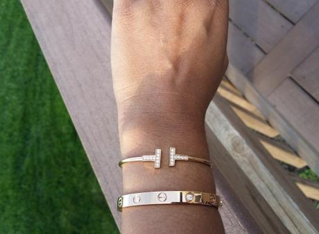 Rose Gold Tiffany T and Cartier Love Bracelets - image by pinkprashu