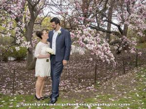 Central Park Elopement Wedding Cherry Blossom