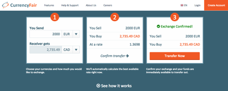 CurrencyFair cheap way to send money abroad