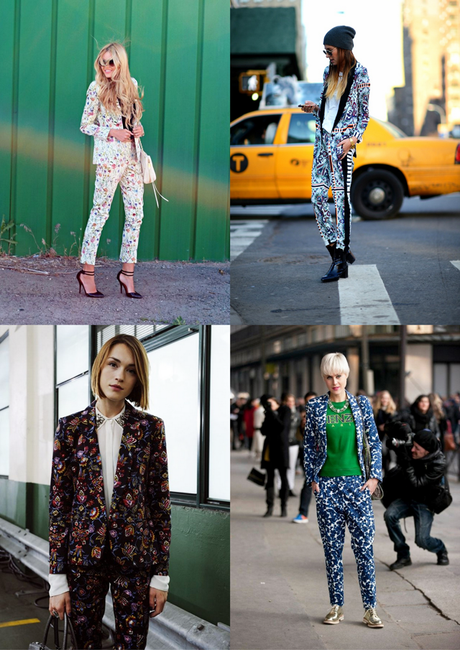 printed suit, matching suit, floral suit, flowers, colorful, trend 2015, fashion, street style, inspiration, linda tol, who wore what