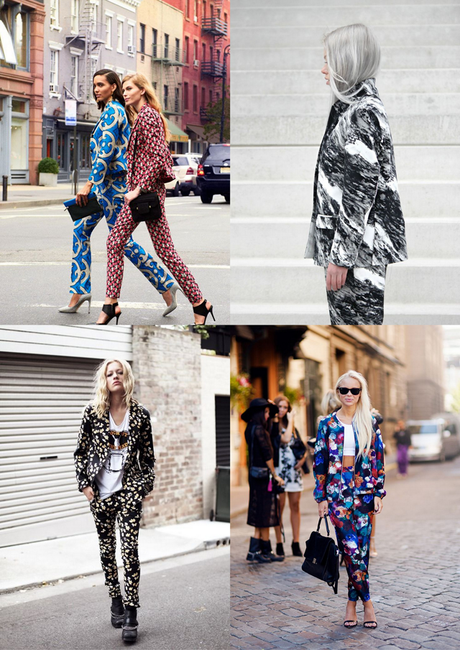 printed suit, matching suit, floral suit, flowers, colorful, trend 2015, fashion, street style, inspiration, victoria tornegren, style athetics