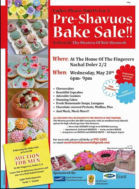 PSA: Ladies Bake Sale and Men's Auction for Mesivta Bet Shemesh
