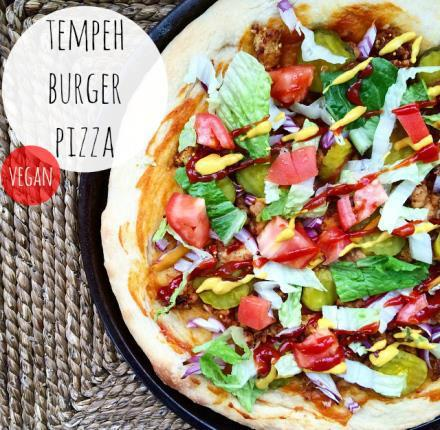 Friendly Fig - Tempeh Burger Pizza