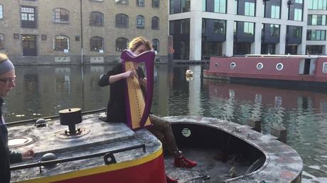 Catrin Finch at the London Canal Museum
