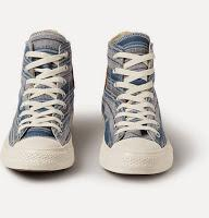Sweet Stripes:  Converse 1970s All Star Chuck Taylor Striped Canvas High-Top Sneaker