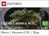 Click to add a blog post for Lights Camera Action - Air Bar on Zomato