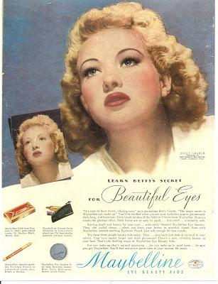 New Video: Maybelline 1940's Classic Ads, sprinkled with a few family pictures