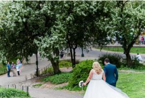Cop Cot Hollie Craig Central Park Wedding pathway 2 b