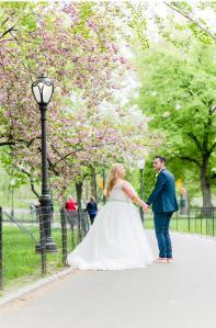 Cop Cot Hollie Craig Central Park Wedding cherry blossom b