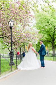 Cop Cot Hollie Craig Central Park Wedding cherry blossom b