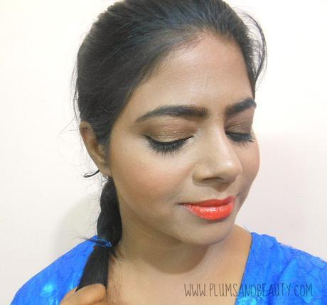 FOTD : Bronze Eyes + Matte Orange Lips