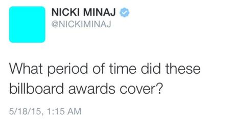 Nicki Minaj Shades The Billboard Awards