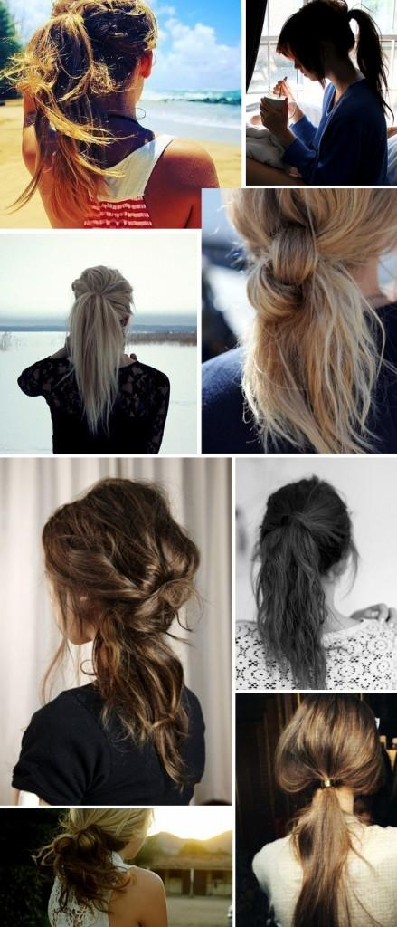 Sexy Messy Ponytails & Up Do's