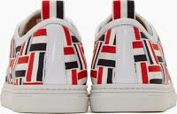 Beautiful Deception:  Thom Browne Tri-Color Grosgrain Basketweave Sneakers
