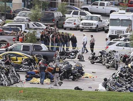 the mindless violence of bike groups at Twin Peaks - Waco Texas