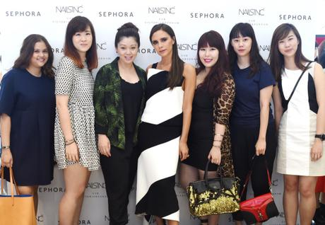With Victoria Beckham at VVB x Nails Inc launch