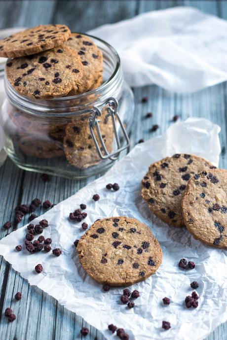 Gluten Free Blueberry and Ginger Cookies