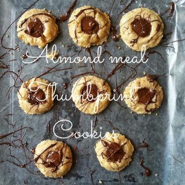Almond Meal Thumbprint Cookies