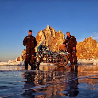 Adventurers Complete First Circumnavigation of Lake Baikal in Winter by Motorbike
