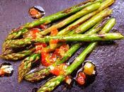 Chargrilled Asparagus with Tomato, Mint, Chilli Lemon Dressing
