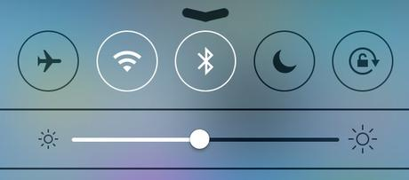 Wi-Fi and Bluetooth options in iPhone's Control Center