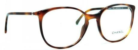 Oval acetate eyeglasses with extra slim temples and Havana color frame