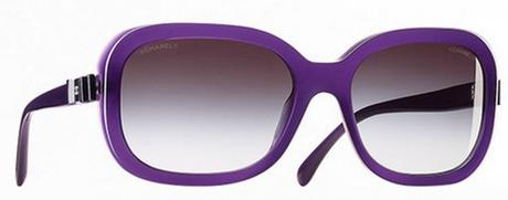 Rectangular shaped sunglasses with Chanel bows on the temples (model 5280Q, Charms Line)