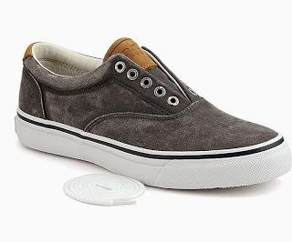 Seasoned With Salt:  Sperry Top-Sider Striper CVO Salt-Washed Twill Sneaker