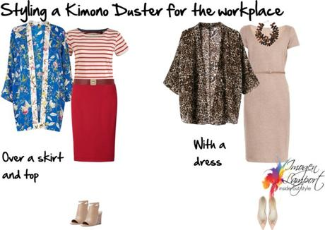 styling a kimono for work
