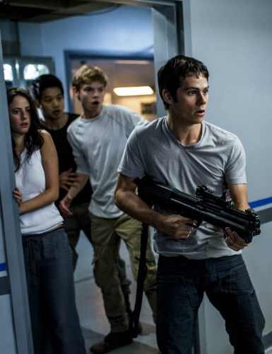 maze runner the scorch trials movie still Dylan O'Brien Kaya Scodelario Ki Hong Lee