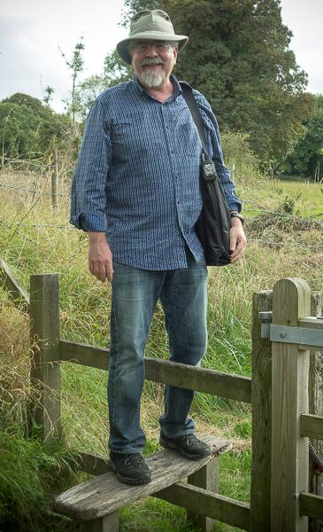 Rick on a stile in England