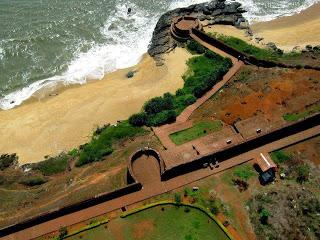 The Bekal fort is one of the main attractions