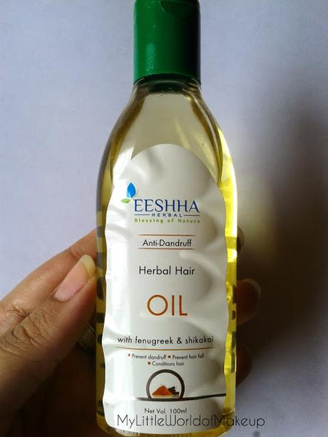 Eeshha Herbals Anti Dandruff Herbal Hair Oil. Review