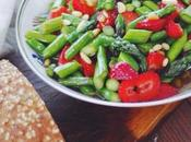 Caramelized Asparagus Strawberry Salad.