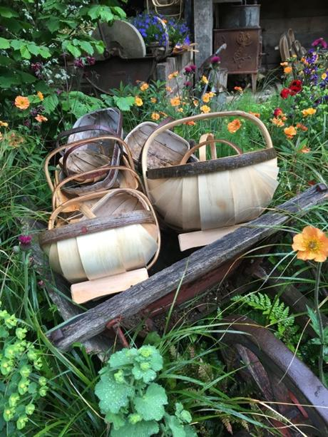 stack of trugs on display
